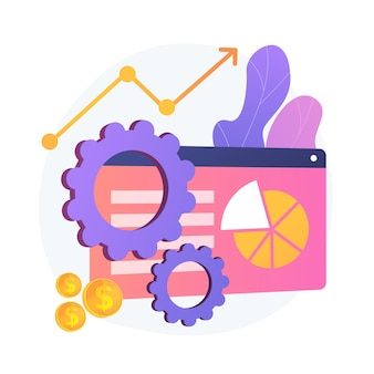 Business enterprise strategy. market analysis, niche selection, conquering marketplace. studying market segmentation, planning company development. vector isolated concept metaphor illustration