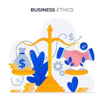 ビジネス倫理の良好な関係または利益
