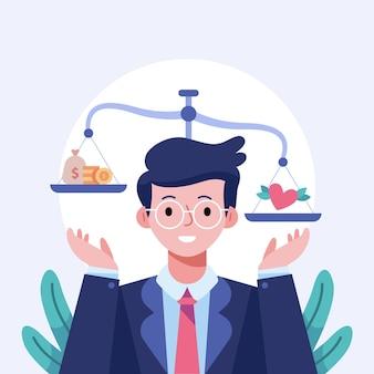 Business ethics illustration