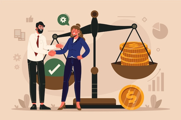 Business ethics illustration
