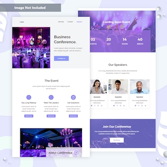Business event email template ui .