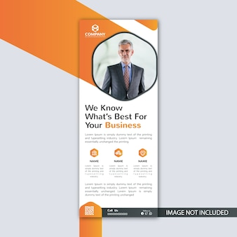 Business event roll-up banner signage standee template