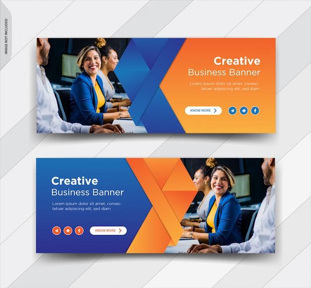 ビジネスfacebookカバーソーシャルメディア投稿バナーデザイン