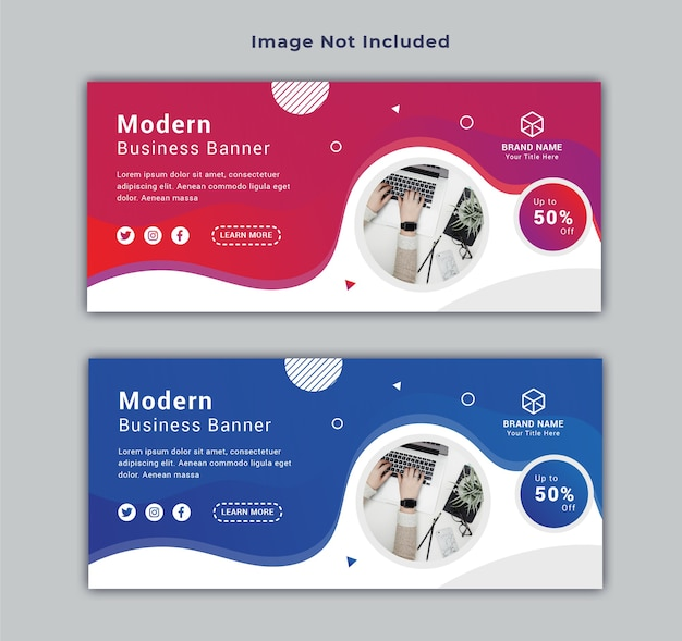 Business facebook cover social media post banner template