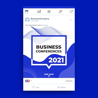 Business facebook post template