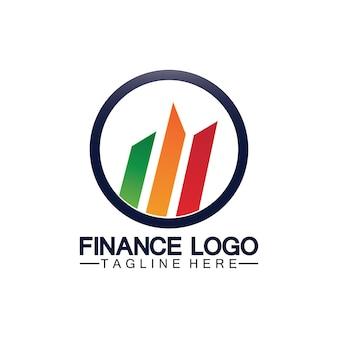 비즈니스 금융 및 마케팅 로고 벡터 일러스트 디자인