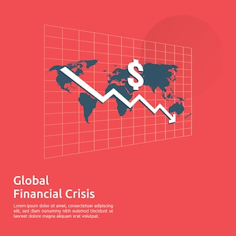 Business finance crisis banner