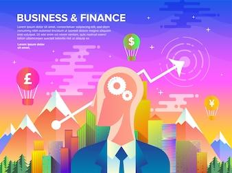 Business & Finance Flat Art