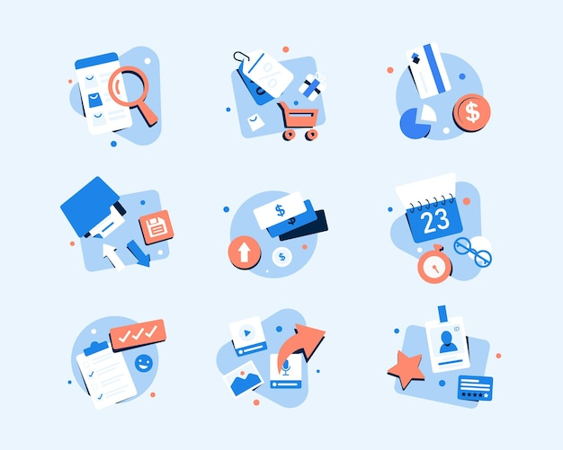 Business and finance iconsflat design icon vector illustration