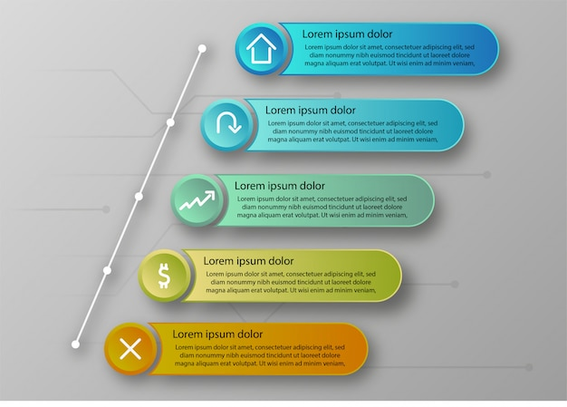 Business and finance info graphic.