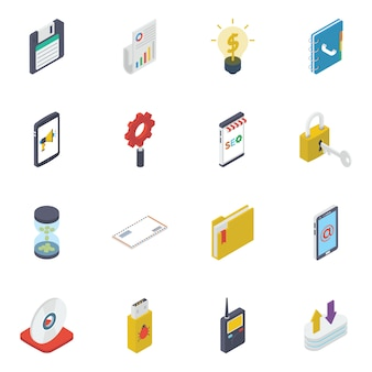 Business and finance isometric pack