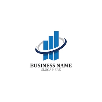 Business finance logo template icon design