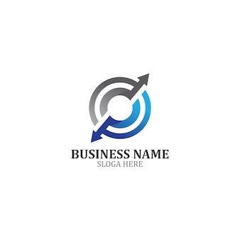 Business finance logo template icon design