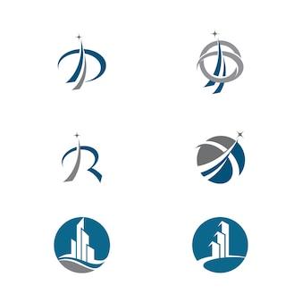 비즈니스 금융 로고 템플릿 벡터 아이콘 디자인