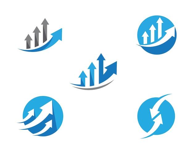 Шаблон логотипа business finance