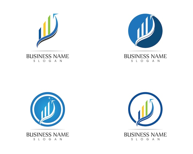 Business finance logo - vector concept illustration