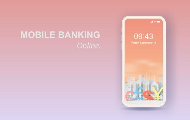 Business finance smartphone banking online concept