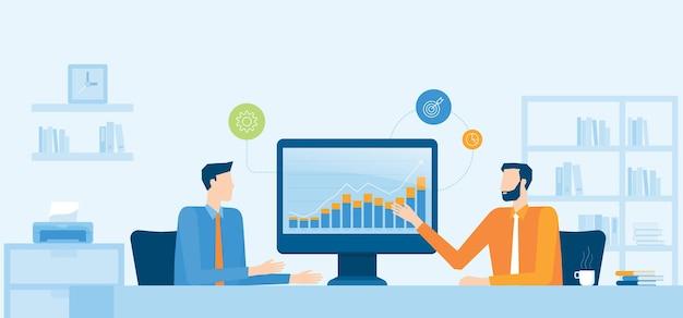 ビジネスファイナンシャルアドバイザーとビジネス投資計画の概念