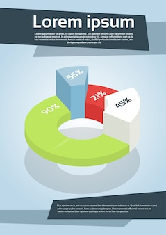 ビジネスファイナンシャルグラフフライヤーカバーデザインページ