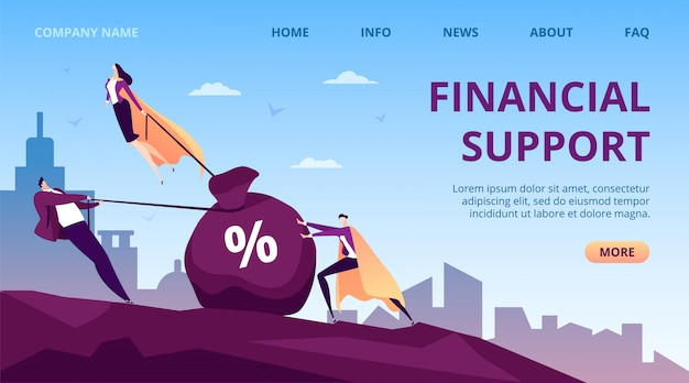 Business financial support by people hero,  super leader person  illustration. successful help for man work, executive leadership woman fly. worker helper group, manager in cape.