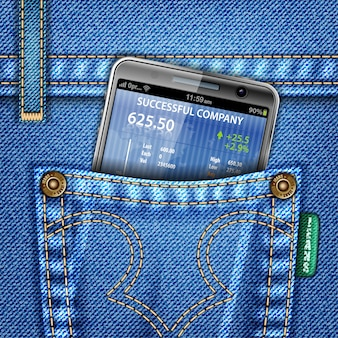 Business financial with jeans concept