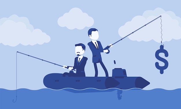 Business fishing for money