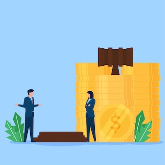 Business flat vector concept illustration.