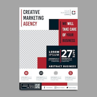 Business flyer abstract professional