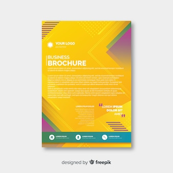 Business flyer abstract template