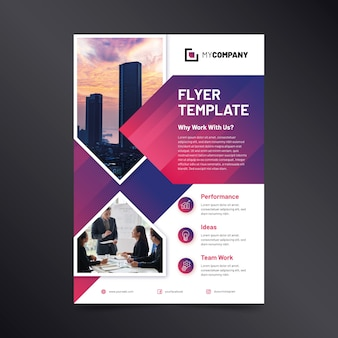 Business flyer abstract with image