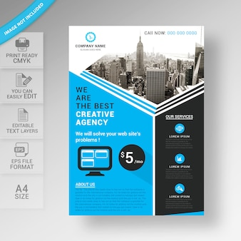 Business flyer brochure template design