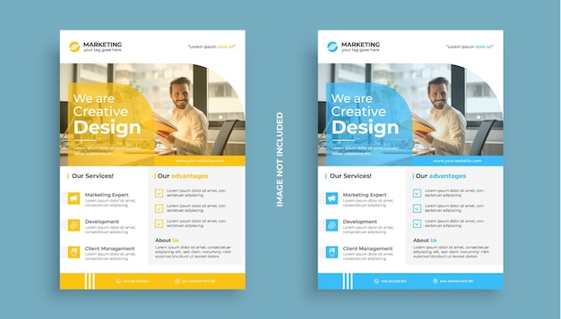 Business flyer corporate template abstract colorful concepts