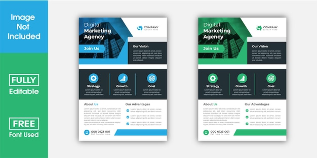 Business flyer design in a4 size