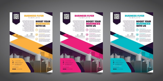 Business flyer design layout template