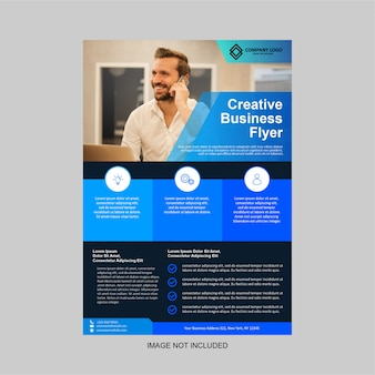Business flyer modern design template