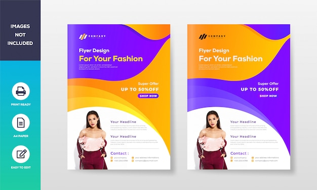 Business flyer poster design a4 template