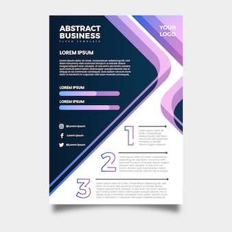 Business flyer professional abstract