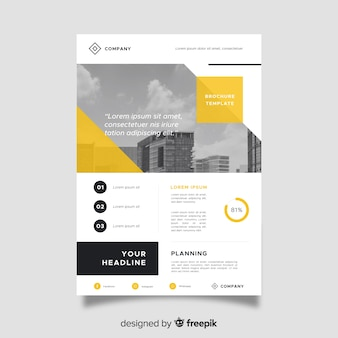 Business flyer template in abstract style