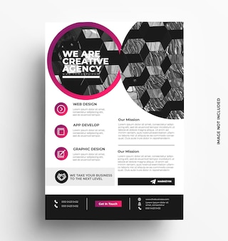 Business flyer template brochure with photo