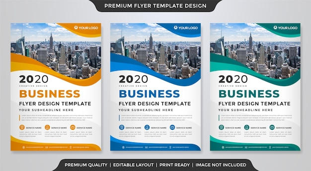 Business flyer template clean style