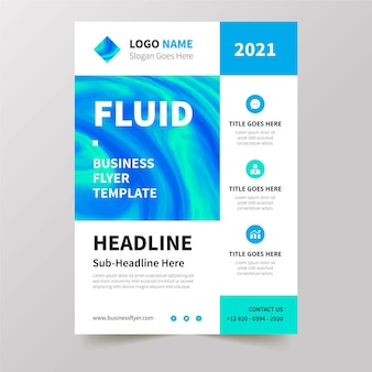 Business flyer template concept