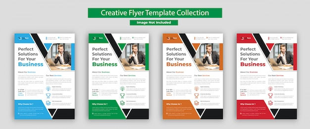 Business flyer template, corporate flyer collection