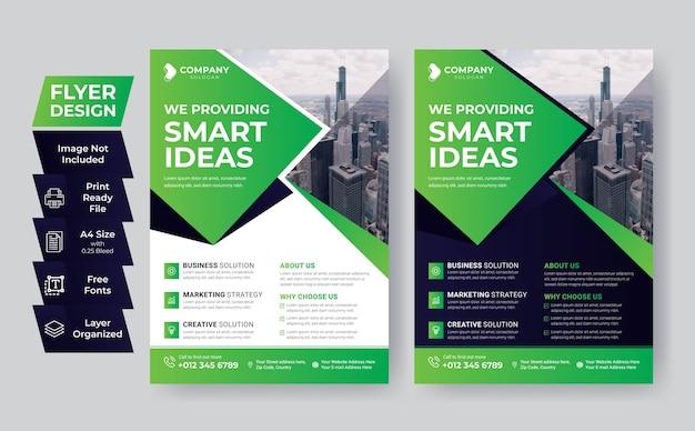 Business flyer template creative design