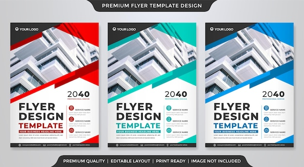 Business flyer template design with abstract style