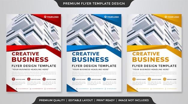 Дизайн шаблона бизнес-флаера с современной концепцией