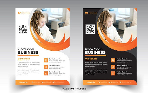 Business flyer template grow your business