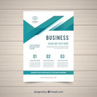 Шаблон бизнес-листа в плоском стиле