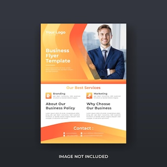 Business flyer template layout design