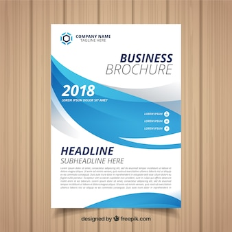 Business flyer template with abstract design