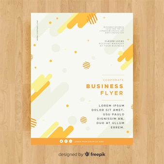 Business flyer template with colorful style